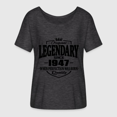 Legendarisk Legendarisk sedan 1947 - T-shirt med fladdermusärmar dam från Bella + Canvas