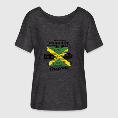 HOLIDAY JAMESICA ROOTS TRAVEL IN Jamaica Cascade - Women's Batwing-Sleeve T-Shirt by Bella + Canvas