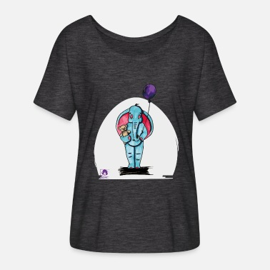 Elijah Elijah the elephant - Women's Batwing-Sleeve T-Shirt by Bella + Canvas