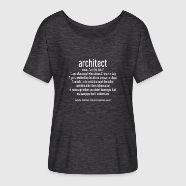 Winding Staircase ARCHITECT - ARCHITECT - BUILDING - DRAWING - Women's Batwing-Sleeve T-Shirt by Bella + Canvas