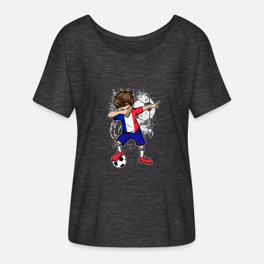Football France Coupe du monde de football en France - T-shirt manches chauve-souris Femme Bella + Canvas
