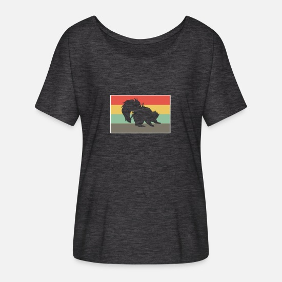 Gift Idea T-Shirts - skunk - Women's Batwing T-Shirt charcoal grey