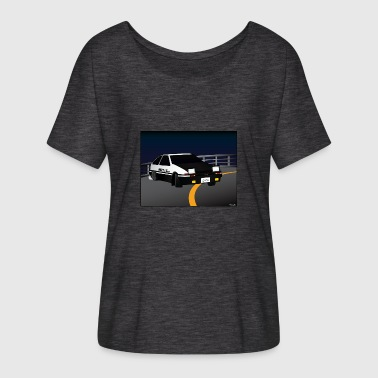 Initial D Drifting Akina - Women's Batwing-Sleeve T-Shirt by Bella + Canvas