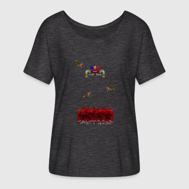 Doom Retro Pixelart Horror Game Scene - Women's Batwing-Sleeve T-Shirt by Bella + Canvas