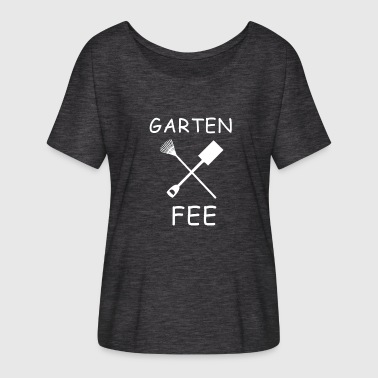 Garden Design Garden fairy logo design - Women's Batwing-Sleeve T-Shirt by Bella + Canvas