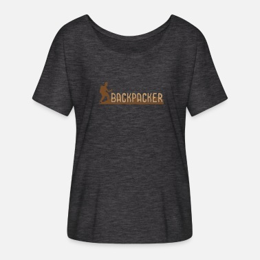 Backpacker Backpacker - Vrouwen T-shirt met vleermuismouwen van Bella + Canvas