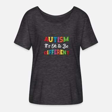 Blue Autism Unicorn Autism Awareness Vintage - Women's Batwing T-Shirt