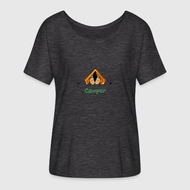 Happy Camper Camper 2 - Women's Batwing-Sleeve T-Shirt by Bella + Canvas
