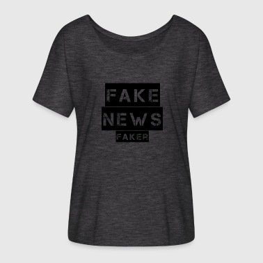 Counterfeit False news, news counterfeiters - Women's Batwing-Sleeve T-Shirt by Bella + Canvas