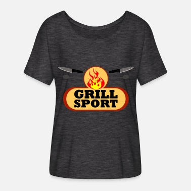 Spoon Sports T-Shirt Grill Sport cutlery - Women's Batwing-Sleeve T-Shirt by Bella + Canvas