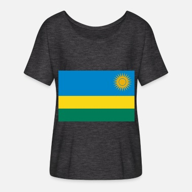 Rwanda Rwanda Flag - Women's Batwing-Sleeve T-Shirt by Bella + Canvas