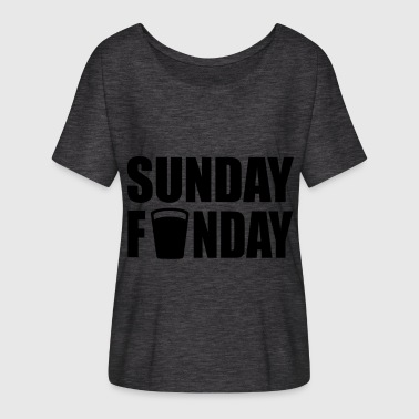 sunday funday - Women's Batwing-Sleeve T-Shirt by Bella + Canvas