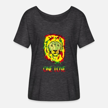 One Reggae Lion Reggae ONE LOVE - Women's Batwing-Sleeve T-Shirt by Bella + Canvas