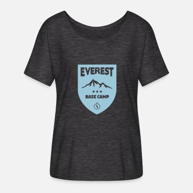 Mount Everest Mount Everest Basecamp - Women's Batwing-Sleeve T-Shirt by Bella + Canvas