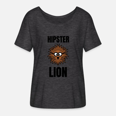 Hipster Lion Hipster Lion | Lion motif as a hipster - Women's Batwing-Sleeve T-Shirt by Bella + Canvas