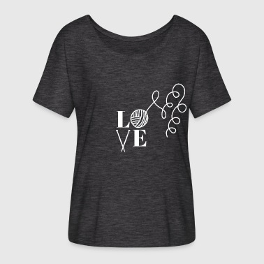 I Love Knitting Love knitting. I love knitting! - Women's Batwing-Sleeve T-Shirt by Bella + Canvas