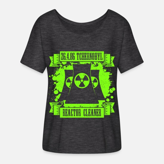 Chernobyl T-Shirts - Tchernobyl 26.04.86 Reactor Cleaner Men's T-Shirt - Women's Batwing T-Shirt charcoal grey