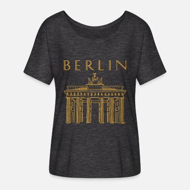 Brandenburger Tor Brandenburger Tor in Berlin - Frauen Fledermaus T-Shirt
