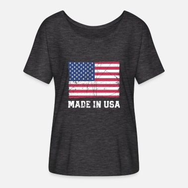 Made In Usa USA Flagge / Made in USA - Frauen Fledermaus T-Shirt