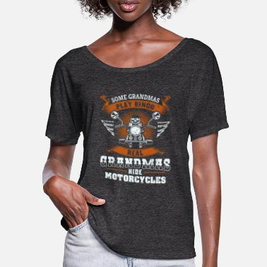 Some Some Grandmas Play Bingo Real Ride Motorcycles - Women's Batwing T-Shirt
