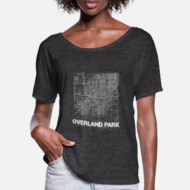 Overland Park Overland Park city map and streets - Women's Batwing T-Shirt