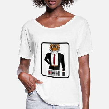 Hitman Hitman Tiger - Frauen Fledermaus T-Shirt