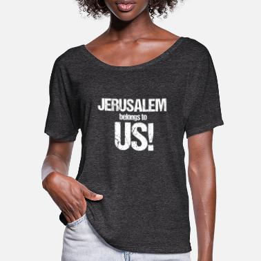 Palestina jerusalem belongs to us - Frauen Fledermaus T-Shirt