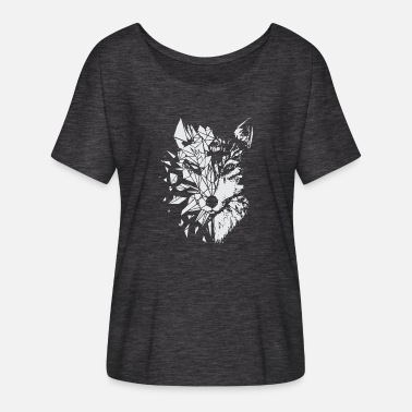 Fox Polygon 01 - Frauen Fledermaus T-Shirt