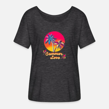 Summer Colours Summer, sun, beach, vacation, gift - Women's Batwing T-Shirt