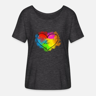 heart - love - Women's Batwing T-Shirt