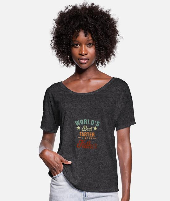 Husband T-Shirts - World's Best Farter I Mean Father Vintage - Women's Batwing T-Shirt charcoal grey