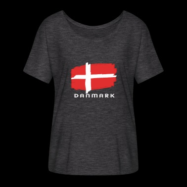 Denmark flag flag danish font - Women's Batwing-Sleeve T-Shirt by Bella + Canvas