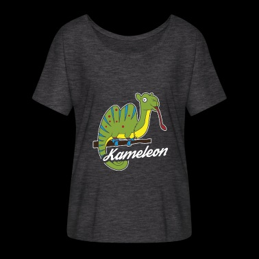 Chameleons, Iguana or Kameleon - Women's Batwing-Sleeve T-Shirt by Bella + Canvas