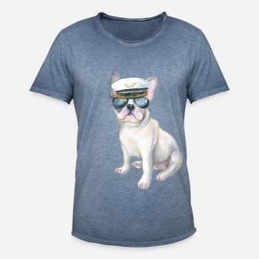Frenchie French Bulldog aviators Captains Hat Men's Premium Zip