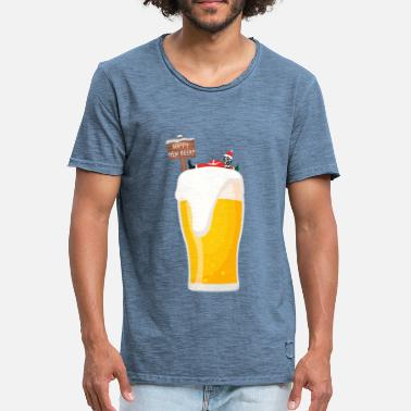 Happy New Year happy New Beer New year - Männer Vintage T-Shirt