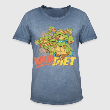 TMNT Turtles Ninja Pizza Diet - Herre vintage T-shirt
