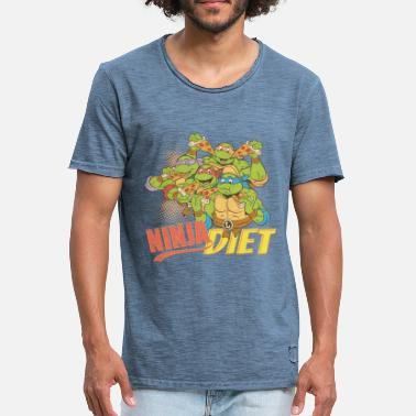 TMNT Turtles Ninja Diet Pizza - Männer Vintage T-Shirt