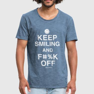 SmileyWorld Keep Smiling And F**k Off - Männer Vintage T-Shirt