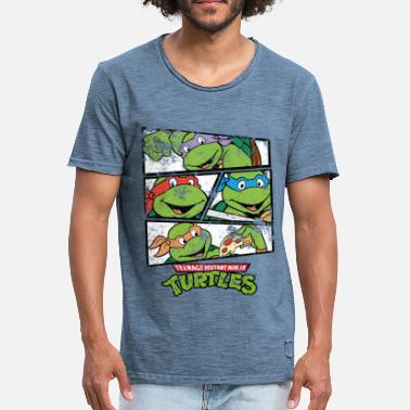 Officialbrands TMNT Turtles Rapha, Don, Leo, Mike - Männer Vintage T-Shirt