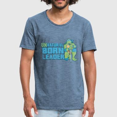 TMNT Turtles Leonardo Unnatural Born Leader - Men's Vintage T-Shirt