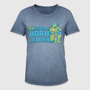 TMNT Turtles Leonardo Unnatural Born Leader - Vintage-T-skjorte for menn