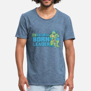 TMNT Turtles Leonardo Unnatural Born Leader - Camiseta vintage hombre