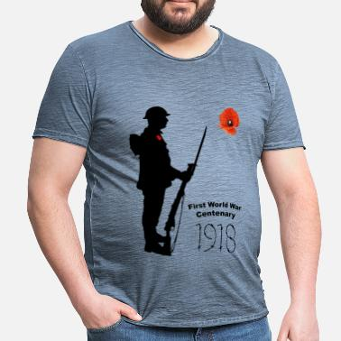Centenary First World War 1918 - Men's Vintage T-Shirt