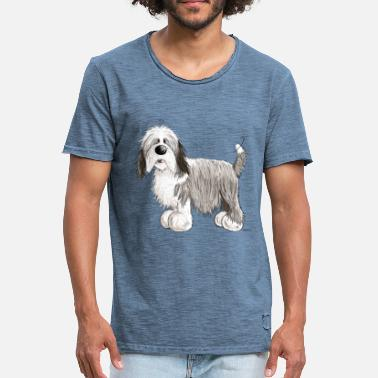 Collie Bearded Collie - T-shirt vintage Homme