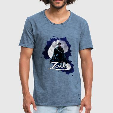 Zorro Hero By Night Standing On A Rooftop - Men's Vintage T-Shirt