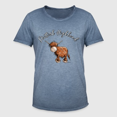 Scottish Highland Rind - Highlander Kuh - Männer Vintage T-Shirt