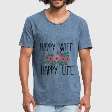 Happy wife happy life - Männer Vintage T-Shirt