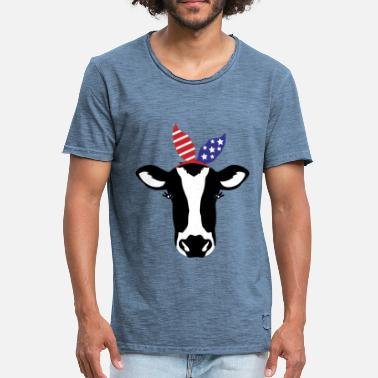 Elsa ELSA COW - Men's Vintage T-Shirt
