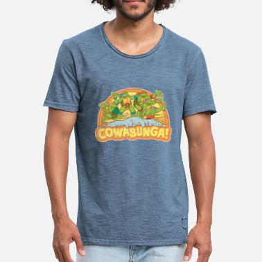 TMNT  Surfing Turtles - Vintage-T-skjorte for menn