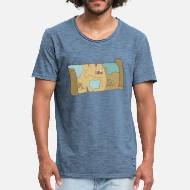 Treasure treasure map - Men's Vintage T-Shirt